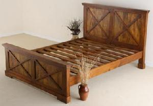 indian wooden bedroom furniture queen bed manufacturer exporter wholesaler