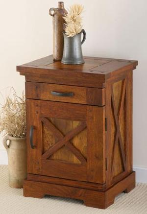 indian wooden door drawer bedside cabinet