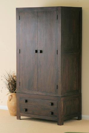 indian wooden drawer wardrobe manufacturer exporter wholesaler