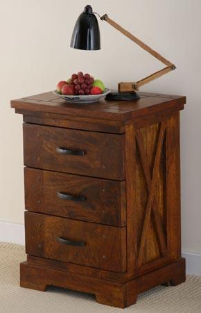 indian wooden drawer bedside cabinet