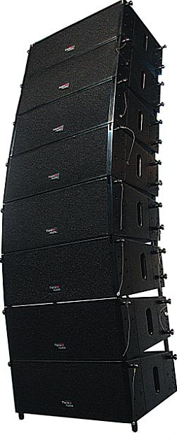 trans audio pro flexible line array loudspeaker mini281