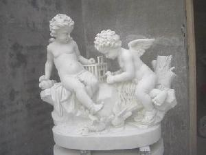 boys angeles marble statue