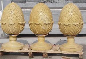 marble pineapple garden urns