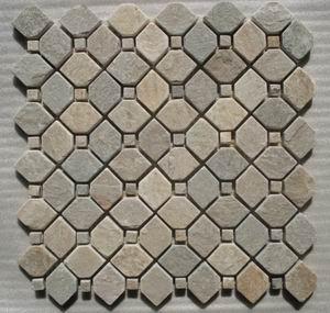 slate mosaic pattern meshed
