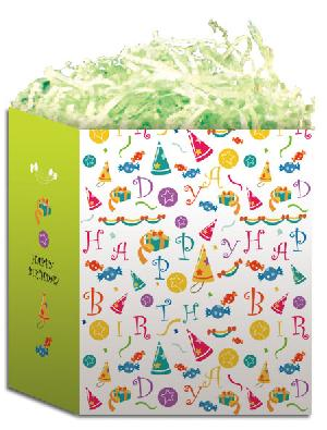 birthday paper carrier art gloss lamination birth004