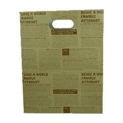 kraft paper bag die cut handle