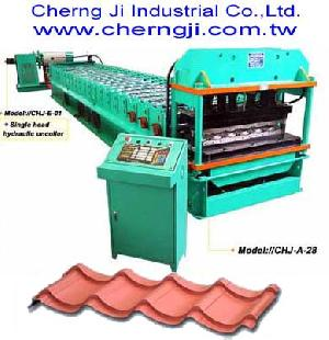 cherng ji roofing tile roll forming machine