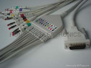 nihon kohden ekg cable 10 leads