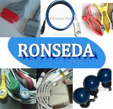 ronseda ecg cable mindray 3 leads suction electrode ibp holter