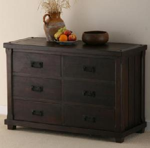 indian wooden chest six drawers manufacturer exporter wholesaler