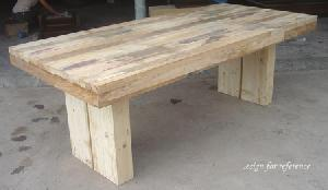 exporting reclaimed elm wood dining table
