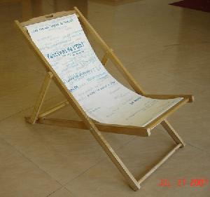 export wooden beach chair deck