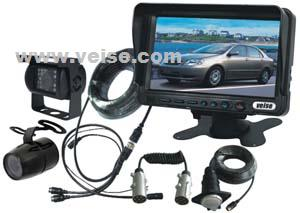 trail rear view camera system 7inch tft lcd monitor removable sun visor power