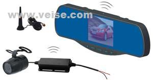 wireless mirror reversing backup camera system 3 5 digital lcd monitor 4ch 2 4gh dc11 32v