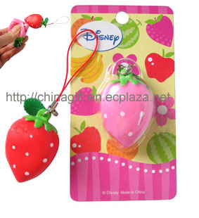 unlimited strawberry phone strap