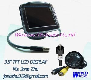 3 5 tft lcd monitor display car video parking sensor system rd 735s