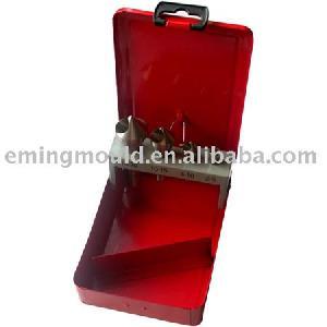 4 countersinks cross hole metal box