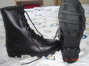 military combat boots jungle desert police shoes mirror leather