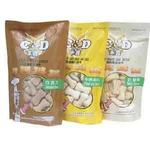 stand up pouches pet treats food packaging plastic bags