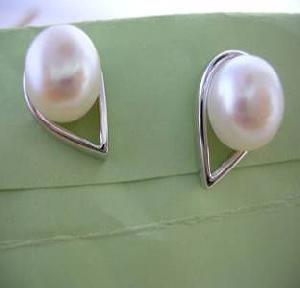 wholesale freshwater pearl earring