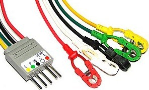 nihon kohden br 004p 5 ld wires ronseda electronics