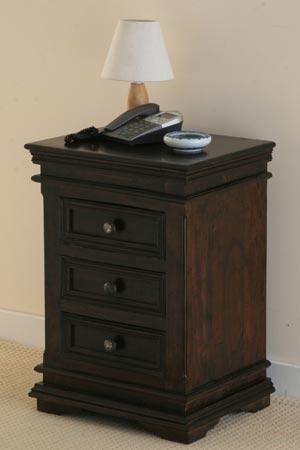 hardwood drawer bedside cabinet manufacturer exporter wholesaler india