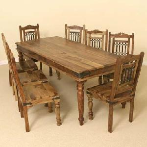 indian wooden eight seater dining setmanufacturer exporter wholesaler india