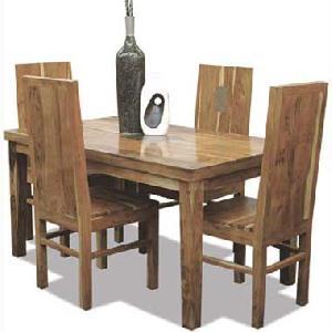 indian wooden four seater dining manufacturer exporter wholesaler india