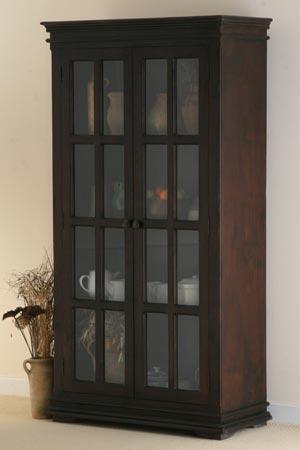 indian wooden glass door cabinet manufacturer exporter wholesaler india
