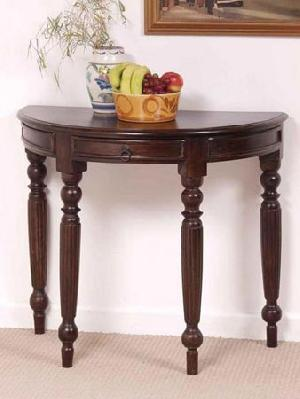 Beau Indian Wooden Round Console Table Manufacturer Exporter Wholesaler India