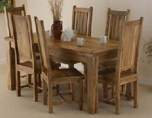 indian wooden six seater dining manufacturer exporter wholesaler india