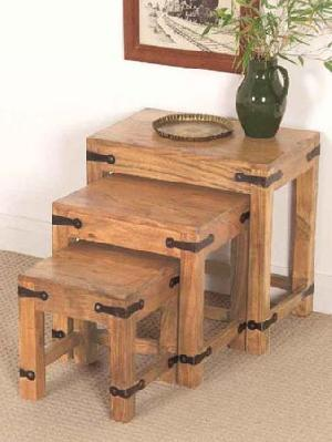 indian wooden nest table manufacturer exporter wholesaler india