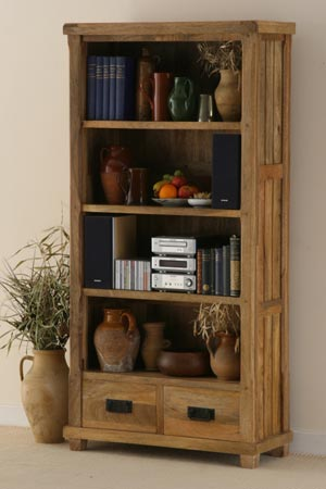 wooden display bookcase manufacturer exporter wholesaler india
