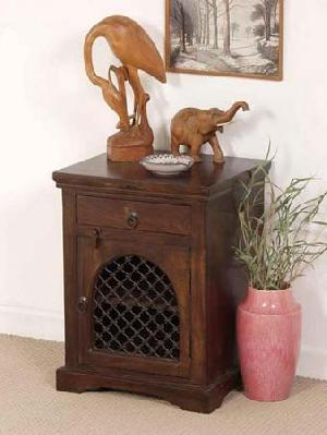 wooden door drawer bedside cabinet manufacturer exporter wholesaler india