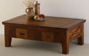 wooden drawer coffee table manufacturer exporter wholesaler india