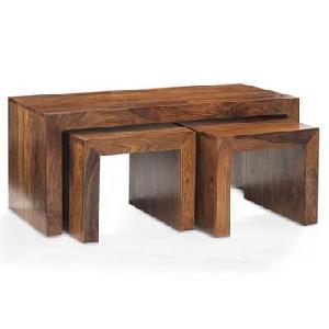 wooden nest table manufacturer exporter wholesaler india