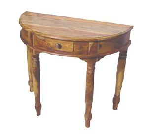 wooden round console table manufacturer exporter wholesaler india