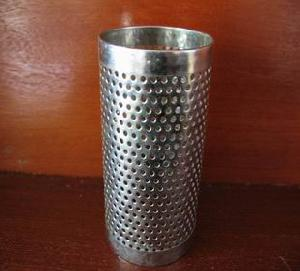 perforated metal tube