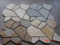 meshed slate flooring wall slates