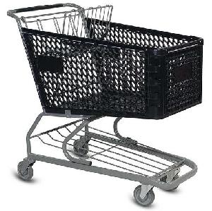 plastic metal shopping trolley qingdao yongchang