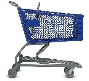 powder coating metal shopping trolley qingdao yongchang