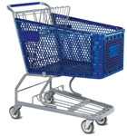 supermarket four wheel shopping trolleys