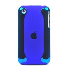 detachable plastic case titanium plated apple iphone 3gs 3g blue