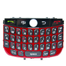 replacement keypad keyboard blackberry javelin curve 8900 metalic
