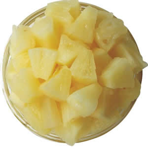canned pineapple slices pieces tidbits chunks