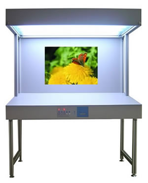 inteke light booth viewing box matching cac 12