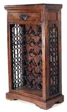 hardwood wine bottle rack furniture manufacturer exporter wholesaler india
