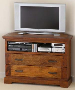 mango wood corner tv cabinet manufacturer exporter wholesaler india