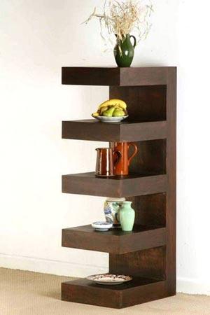 mango wood display bookcase manufacturer exporter wholesaler india