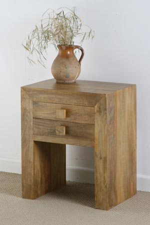 mango wood lamp table drawer manufacturer exporter wholesaler india